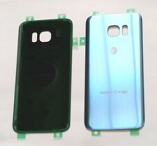 Original OEM Back cover Glass For Samsung Galaxy S7 Edge AT&T G935A~ BLUE ~ US