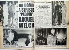 RAQUEL WELCH in Paris => 2 pages 1978 ITALIAN CLIPPING !!!