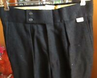 29x30 FIT True Vtg 70s mens FARAH CHARCOAL RAYON HBT BLEND BELLBOTTOM PANTS