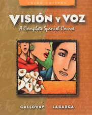 NEW Visión y voz: A Complete Spanish Course by Vicki Galloway