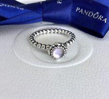 Authentic Pandora February Purple Amethyst Birthstone Ring Size 54 #190854AM