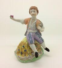 "Continental German Dresden Porcelain Figurine Boy at Summer Harvest 13cm 5"""
