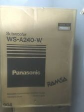 Panasonic Ramsa Subwoofer Speaker (Model: WS-A240-W) color: WHITE (NEW)