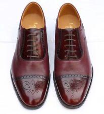 New Loake 'Woodstock' Burgundy Oxford Leather Shoes 7.5 UK 41.5 EU - G