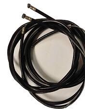 Lambretta Gear Cable Interior Y Exterior Negro X 2 Nuevos Ambos