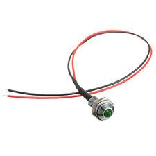 8mm 24V Car LED Dash Panel Pilot Warning Light Indicator Lamp GreenXD U3E3