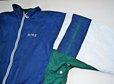 Vintage 90s Nike Windbreaker Full Zip Jacket Colorblock Blue Green White Small S