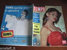 RIVISTA TEMPO 1958/2=BRIGITTE BARDOT=EGIDI=VALENTINA CORTESE=DELIA SCALA=