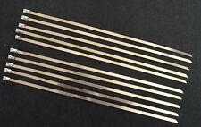 10 X  COLLIERS INOX  20cm X 4,6 mm  POUR FIXATION BANDE THERMIQUE ECHAPPEMENT