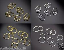 25 Eheringe Hochzeit goldene Ringe Dekoringe gold Doppelringe Ring Streudeko