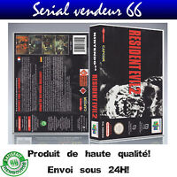 "Boitier du jeu "" RESIDENT EVIL 2 "", nintendo 64, visuel PAL FR. HD"