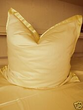 Bettwäsche Baumwolle Satin Farbe Gelb Größe 135 cm x 200 cm Kissen mit Satinband