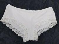 Vintage St. Eve White Cotton Spandex Stretchy Briefs Panty Panties Large