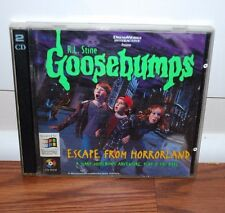 GOOSEBUMPS ESCAPE FROM HORROR LAND PC VIDEO GAME WINDOWS MAC GAMES (1996)
