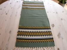 EXCELLENT SAGE GREEN NORWEGIAN HAND WOVEN TABLE RUNNER  FROM NORWAY