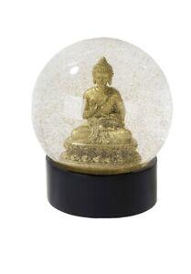 Buddah Glitter Snow Globe Meditation Decoration Luck