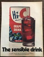 ORIGINAL 1970 Hi-C Fruit Drink PRINT AD The Sensible Drink