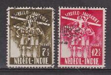 Nederlands Indie Indonesie 226 -227 used Wereld jamborie 1937 Netherlands Indies