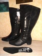 JJFootwear XXL Weitschaft Stiefel Reitstiefel in schwarz NEU Gr. 43 super chic