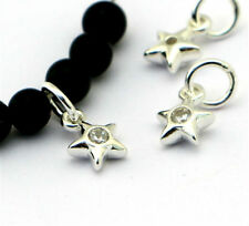 Argento Sterling Charm Baby PUFF stella con zirconi cubici Centro Argento PUFF Stella Charm