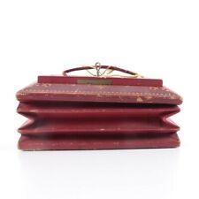 W&J Milne expandable red leather despatch box with key from Edinburgh Scotland