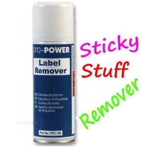 1x Label Sticker Sticky Stuff Gooey Adhesive Remover Spray Solvent Cleaner 200ml