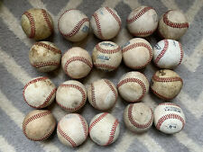 Lot of 20 Used Leather Baseballs Excellent Quality Little League