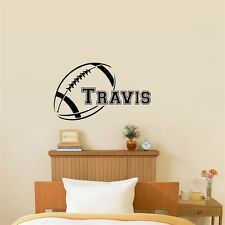 Football With Customized Name Vinyl Wall Decal For Kids Room