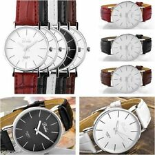 Faux Leather Band Men's Luxury Adult Wristwatches