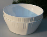 """6.5"""" Relief White Bone China Salad Bowl(Cereal Soup Bowl) Washer& Microwave Safe"""
