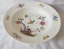 STUNNING MEISSEN MARCOLINI BOWL. C 1780S KAKIEMON GORGEOUS BIRD & FLOWER DESIGN