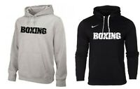Nike BOXING Hoodie Cotton Men's Training Sweatshirt Hoody Black Grey