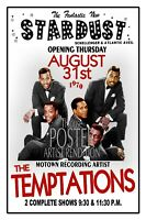 The TEMPTATIONS 1970 STARDUST CLUB Wildwood NJ POSTER Art Rendition THouse 2018