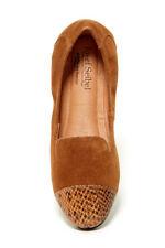 Josef Seibel Pippa Snake Embossed Cap Toe Flat Size 37 (7) Brown NEW Leather