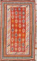 One-of-a-Kind Hand-Woven Geometric Kilim Kashkoli Area Rug Oriental Carpet 5'x9'