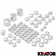 Krator Bolt Toppers Caps Chrome Bike Frame Bolt Cover Kit For 2009 Up Harley Davidson Softail Twin Cam