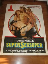 MANIFESTO, SUPERSEX SUPER GABRIEL PONTELLO,THOMAS,EMMANUELE,PASCALE EROTICO SEXY