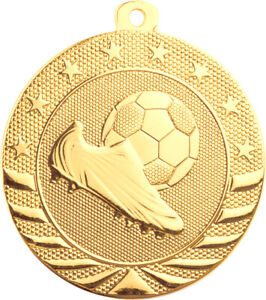 """2"""" Starbrite Soccer Medal Personalized Free"""
