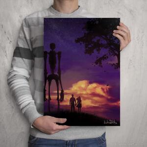 Sci-fi Sunset Artwork - Signed Colour Print - Scif Art by Manga / Anime artist