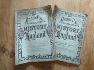 Rare Vintage Cassell's History Of England Magazines Bundle x 10 mid 19th C