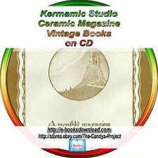 Keramic Studio Ceramic Pottery Magazine Art Nouveau Vintage Books on DVD