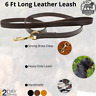 Leather Dog Leash 6 Ft Training Lead Large Dogs Handmade Hand Crafted Heavy Duty