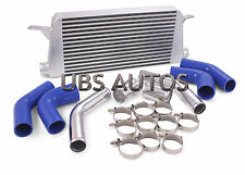 Front mount Alloy Intercooler Kit Performance Blue Hoses Fits Audi S3 Turbo 20v
