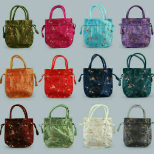 Wholesale Dawstring 10 pcs Chinese Handmade Silk Jewerly Pouches Purse Gift Bag