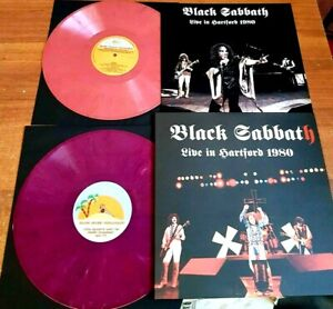 BLACK SABBATH LIVE IN HARTFOR HEAVEN & HELL TOUR 1980 SOUNDBOARD DIO 2 lp marbl