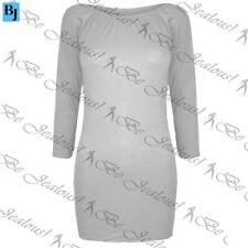 Vestiti da donna tunica grigio corto, mini