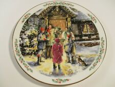 Royal Doulton 1989 Christmas Series Plate Carolling