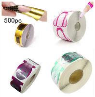 500pcs/roll Nail Art Acrylic UV Gel Tips Extension Sticker Form Decoration Tool