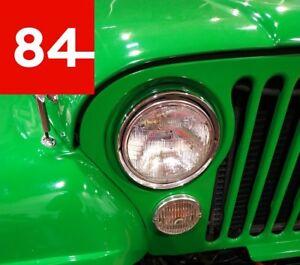 +Jeep CJ CJ5 CJ6 CJ7 Willys Jeepster Scheinwerfer US EU E-Prüfzeichen Umrüstung+