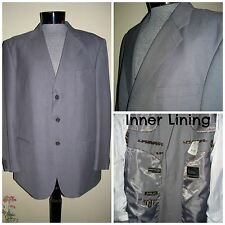 RIZZOLI UOMO Hand Tailored Super 140's Wool Gray Made In Italy Men's Blazer  XL